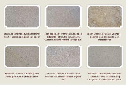 Different types of stone that we use