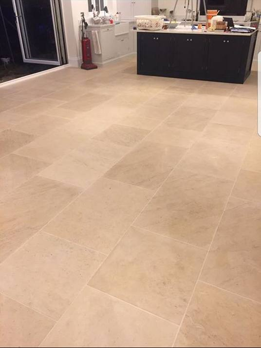 Ancaster Tiles which have been laid for the customer